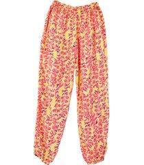 pantalón pijama mujer  cada llama con su pillama  amarillo ramas rosadas