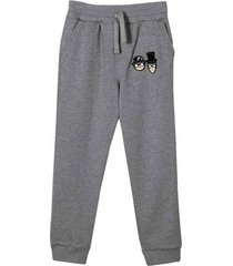 dolce & gabbana sport trousers with application