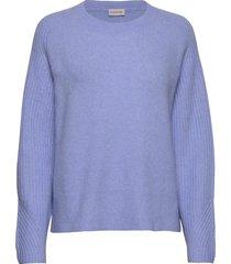 ana stickad tröja blå by malene birger