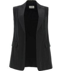 sportmax cima cotton poplin vest
