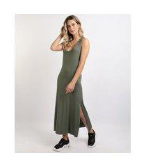 vestido feminino básico midi decote redondo chumbo