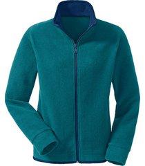 fleece vest, petrol/nachtblauw s