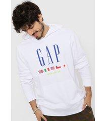 buzo blanco gap
