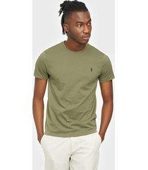 polo ralph lauren short sleeve polo t-shirt t-shirts & linnen green