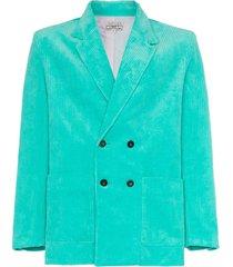 ashley williams executive double breasted corduroy cotton blazer -