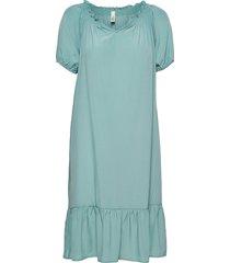 sc-pelican knälång klänning blå soyaconcept