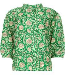 blouse met print panama  groen