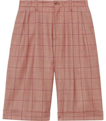 gucci check bermuda shorts - pink