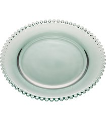 sousplat cristal pearl verde 32cm