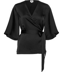 alina blouse blouses short-sleeved svart twist & tango