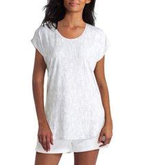 women's short sleeve scoop neck pullover