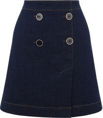 4 button denim skirt