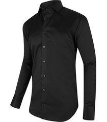 cavallaro heren overhemd zwart twill nosto italian fit ml7