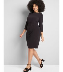 lane bryant women's 3/4-sleeve sheath dress 22/24 black