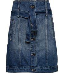 woman denim skirt knälång kjol blå armani exchange