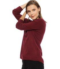 sweater privilege morado - calce holgado
