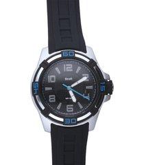 stockholm – orologio so fancy 3h nero e argento con cinturino nero per uomo