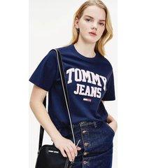 polera boyfriend algodón orgánico azul tommy jeans