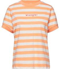 80´s tee t-shirts & tops short-sleeved orange wrangler