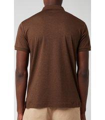 polo ralph lauren men's slim fit soft cotton polo shirt - nutmeg brown heather - xxl