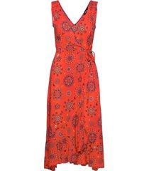 vest santorini dresses wrap dresses röd desigual