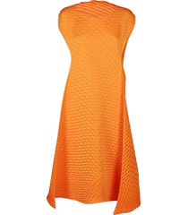orange temporary room midi dress