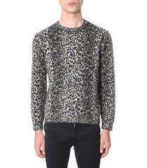 saint laurent jacquard sweater