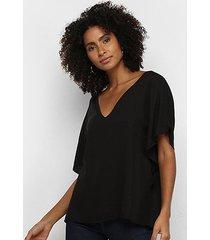 blusa acostamento fashion básica feminina