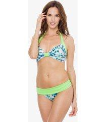 bikini verde mare moda selvagem