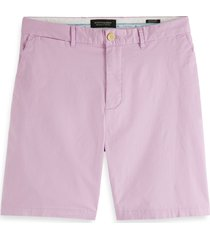 men's scotch & soda stuart flat front chino shorts, size 30 - purple