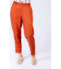 pantalon adrissa efecto lino con mini aberturas