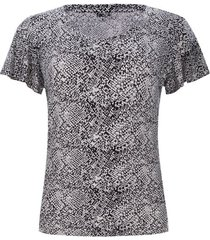 camiseta mujer estampada mosaico piton color blanco, talla 10