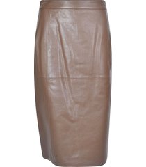 desa 1972 vegetal nappa leather skirt