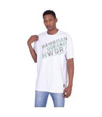 camiseta hd plus size estampada branca