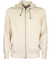 brunello cucinelli comfort cotton sweatshirt with hood