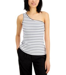 inc animal-print one-shoulder top, created for macy's