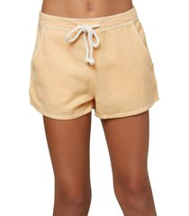 girl's o'neill kids' sage tie waist shorts, size m - orange