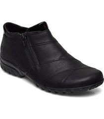 l4673-01 shoes boots ankle boots ankle boots flat heel svart rieker