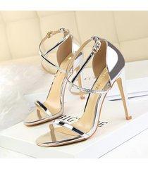 sandalias de punta abierta para mujer con malla sandalias sandalias