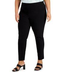 alfani plus size skinny stretch pants, created for macy's