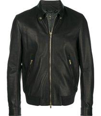 ajmone loose fitted jacket - black