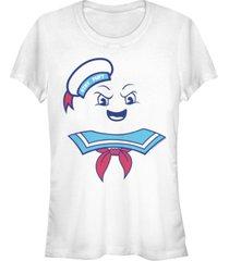 fifth sun ghostbusters women's stay puft marshmallow man costume short sleeve tee shirt