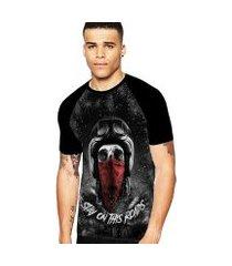 camiseta stompy raglan modelo 124 masculina