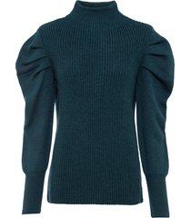 maglione con maniche a sbuffo (petrolio) - bodyflirt