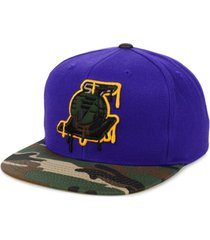 mitchell & ness los angeles lakers hardwood classic camo drip cap
