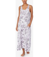 dkny printed maxi chemise nightgown