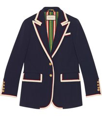 gucci stretch viscose jacket - blue