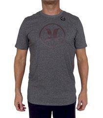 camiseta hurley df circle icon-gris-plateado-gris