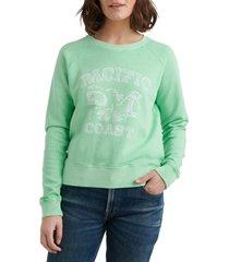 women's lucky brand pacific coast crewneck cotton sweatshirt