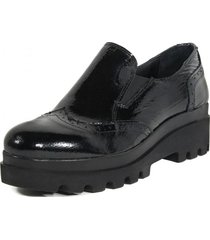 zapato liso elastico negro nara